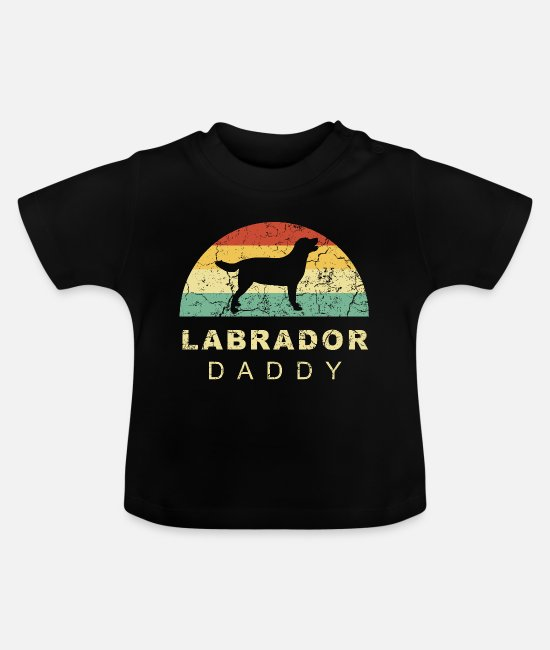 German Shepherd Baby T-Shirts - Grunge retro vintage labrador dog dad - Baby T-Shirt black