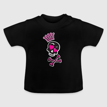Skull with crown - Baby T-Shirt