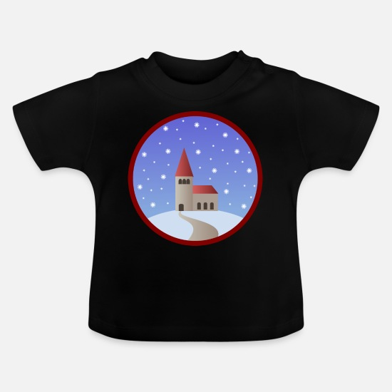 Gift Idea Baby Clothes - church - Baby T-Shirt black