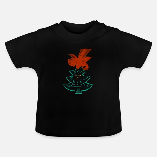 Stylish Baby Clothes - girlie tree - Baby T-Shirt black