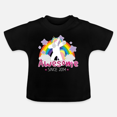 Awesome Since Unicorn Awesome Since 2014 - Baby T-Shirt