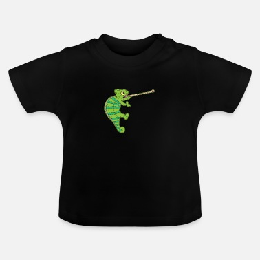 Serengeti Wildlife Climbing Chameleon Animal Welfare Gift - Baby T-Shirt