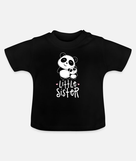 Sister Baby Clothes - Little sister - Baby T-Shirt black