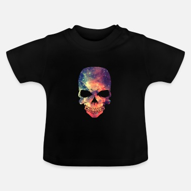 Hipster Universe - Space - Galaxy Skull - Baby T-Shirt