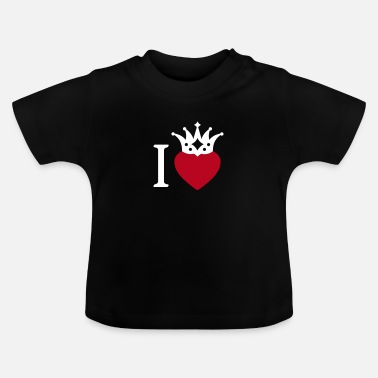 I LOVE ... with crown 2 - Baby T-Shirt