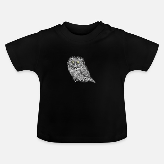 Owl Baby Clothes - owl - Baby T-Shirt black