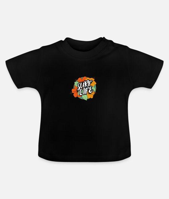 Party Baby T-Shirts - Surf Life - Baby T-Shirt Schwarz