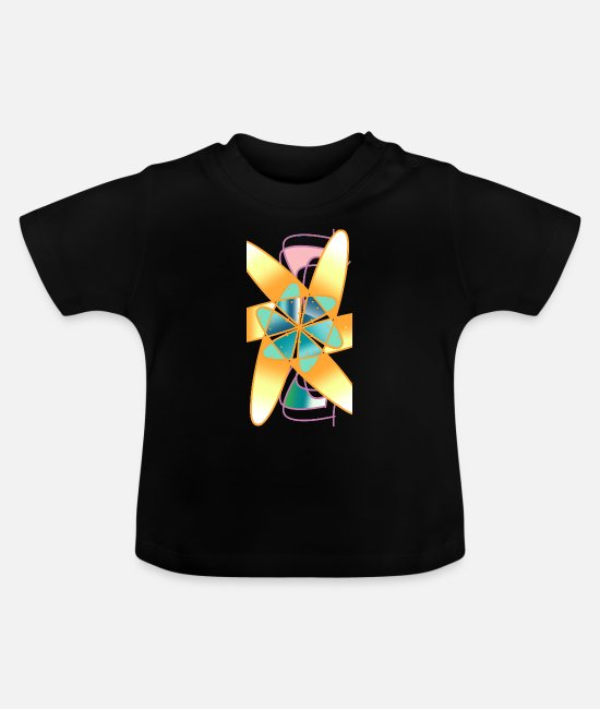 Beach Baby T-Shirts - geometries - Baby T-Shirt black