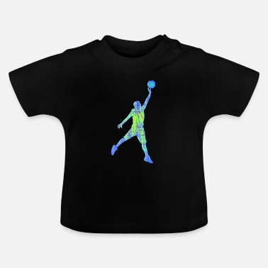 Colorful basketball player - Baby T-Shirt