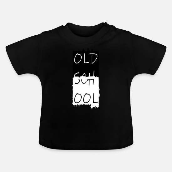 Mood Baby Clothes - alte schule, old school, oldschool - Baby T-Shirt black