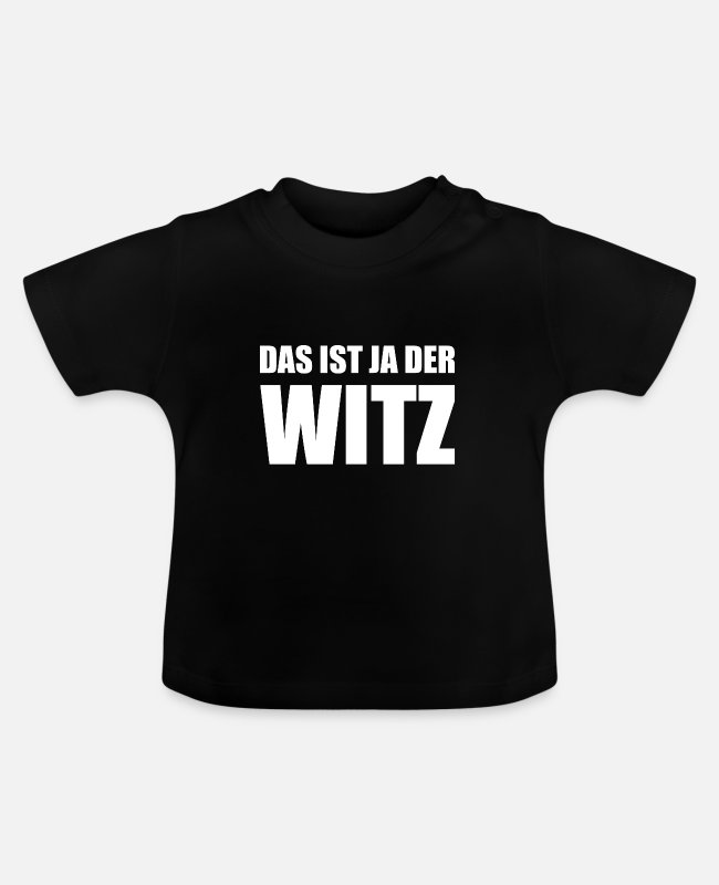 Commentaar Baby shirts - Dat is de grap - Baby T-shirt zwart