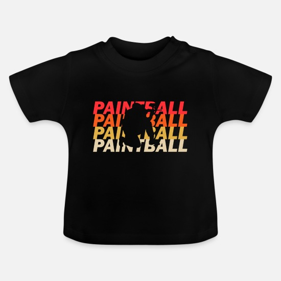 Klecks Babykleidung - Paintball - Baby T-Shirt Schwarz