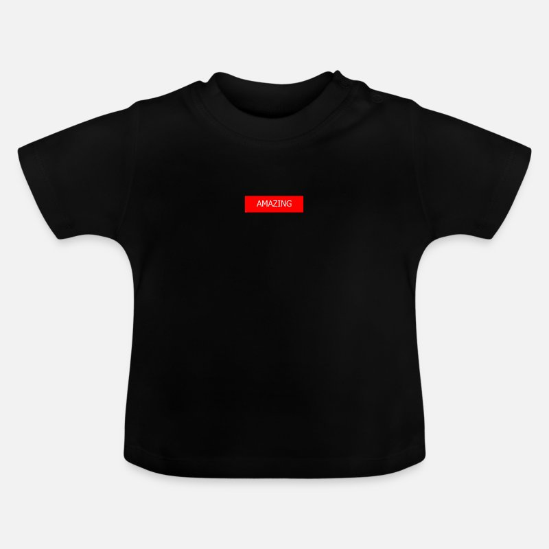 Young Persons Baby Clothes - AMAZING - Baby T-Shirt black