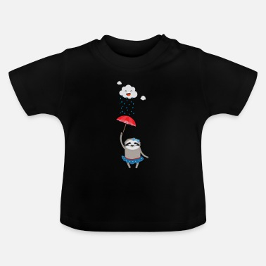 Wet Umbrella Sloth in the rain - Baby T-Shirt