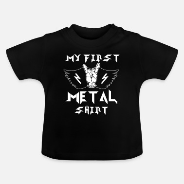 Metal Mijn eerste metalen shirt Baby Kinder Heavy Metal - Baby T-shirt