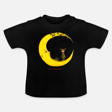 Girl Girl on the moon - Baby T-Shirt