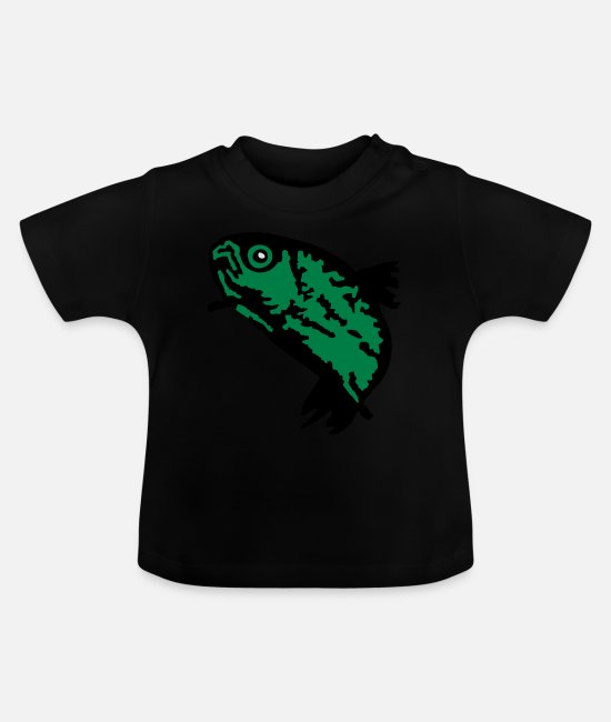 Trout Baby Clothes - Trout / Forelle (3c) - Baby T-Shirt black