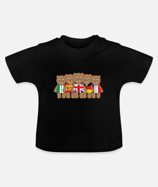 Eurovision Baby T-Shirts - The Big Five - Baby T-Shirt black