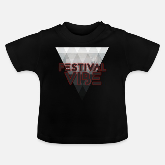 Alcohol Baby Clothes - Festival Vibe - Baby T-Shirt black