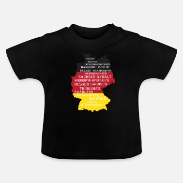Federal State Federal States Germany flag borders - Baby T-Shirt