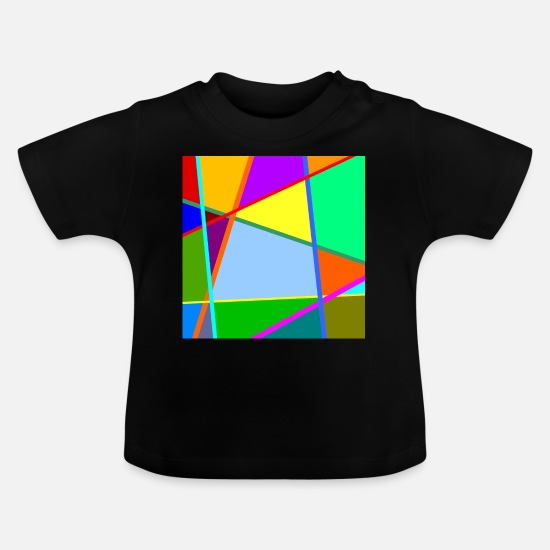 Italian Baby Clothes - Colorful pattern - Baby T-Shirt black
