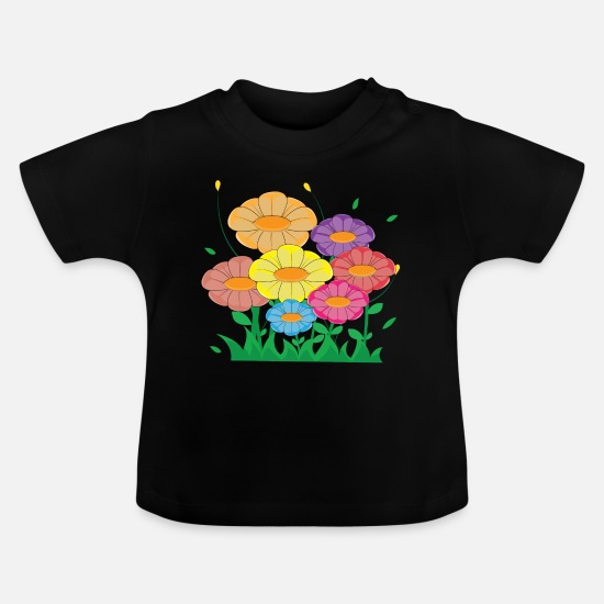Gift Idea Baby Clothes - flower meadow - Baby T-Shirt black