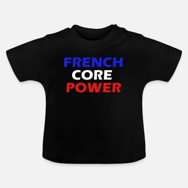 Hardstyle Frenchcore Power Simple Heren / Dames - Baby T-shirt
