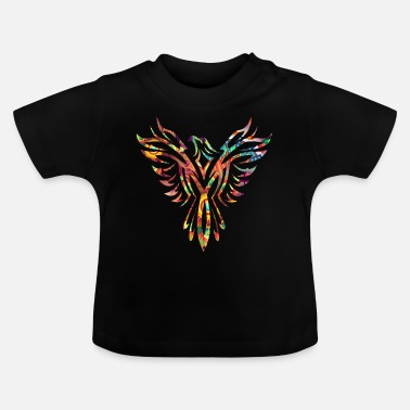 Phoenix Phoenix colorful abstract silhouette - Baby T-Shirt