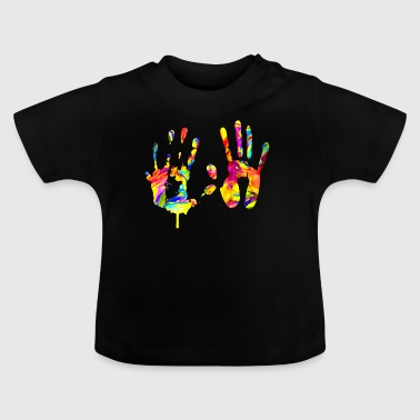 Colorful handprint - Baby T-Shirt