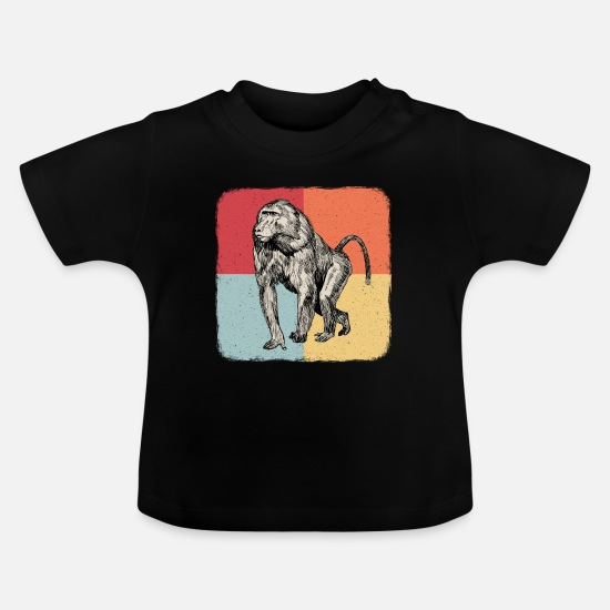 Monkeys Baby Clothes - Chimpanzee orangutan capuchin monkey gift - Baby T-Shirt black