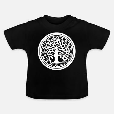 Wiking Yggdrasil Nordic Wiking Vikingwe Tree of Life - Baby T-Shirt
