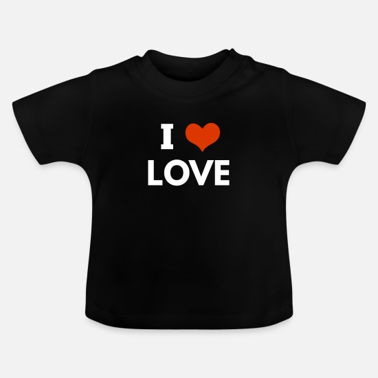 Love Baby Clothes - i love love - Baby T-Shirt black