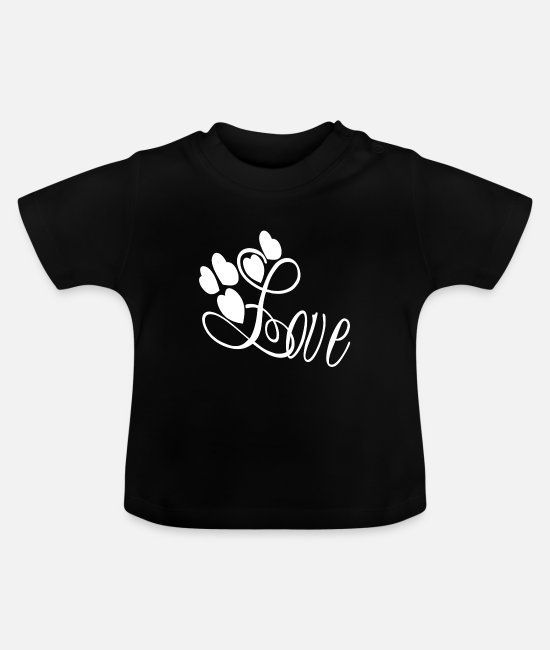 Design Baby T-Shirts - Love with heart gift - Baby T-Shirt Schwarz
