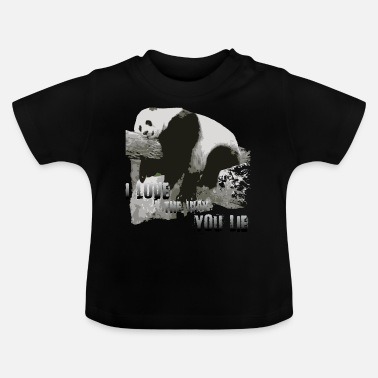 I-love-the-blues Panda-I love the way you lie - Baby T-Shirt