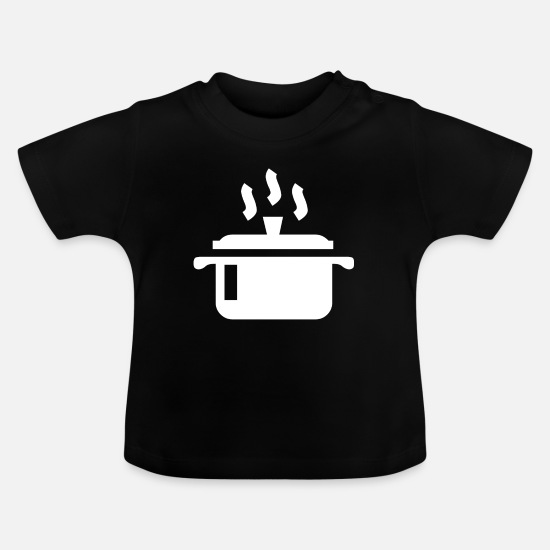 Gift Idea Baby Clothes - A white saucepan on the stove - Baby T-Shirt black