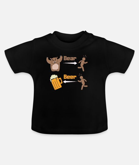 Ascension Baby T-Shirts - Difference between bear and beer - Baby T-Shirt black