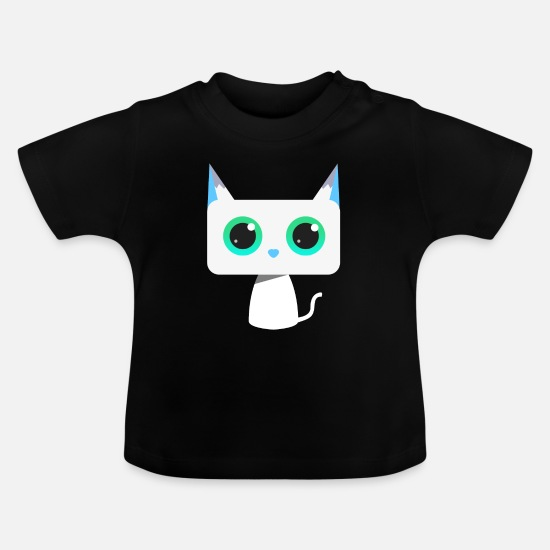 Love Baby Clothes - Cat Frozen Snow - Baby T-Shirt black