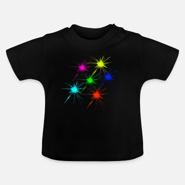color blob colorful techno rave - Baby T-Shirt