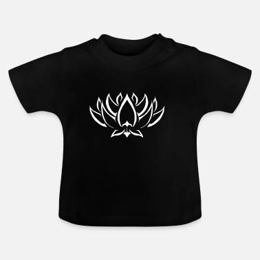 Droom Lotus tribal wight - Baby T-shirt
