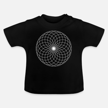 Blæk Mandala Art Zentangle Tegning - Baby T-shirt