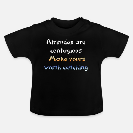 Love Baby Clothes - Attitude color - Baby T-Shirt black