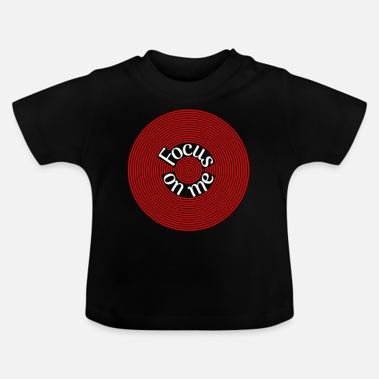 Gift Idea Baby Clothes - Focus on me Psychedelic meditative Concentric - Baby T-Shirt black