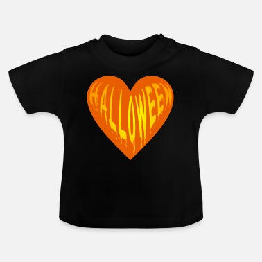 Bimote Happy Halloween - Herz Paar Love - Baby T-Shirt