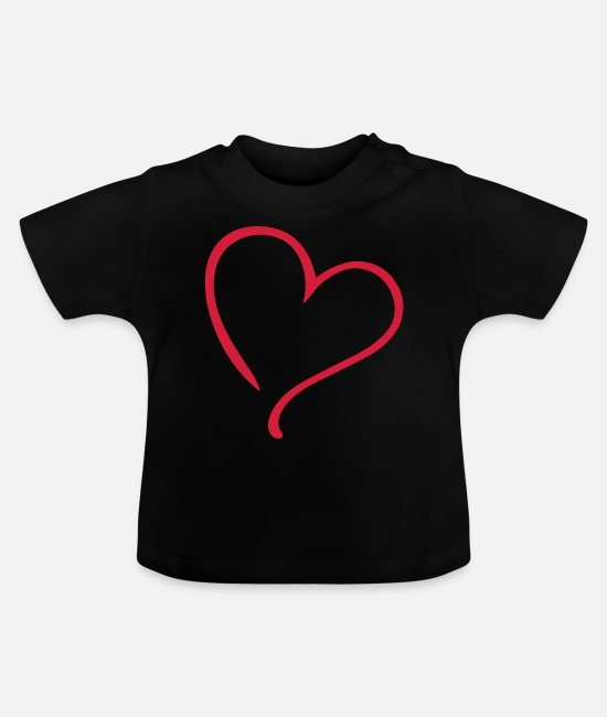 Corazon T-shirts Bébé - Heart Love - T-shirt Bébé noir