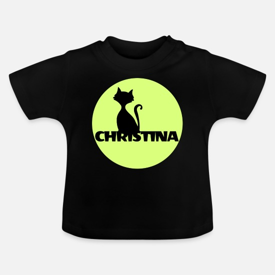Full Moon Baby Clothes - Christina Name First name - Baby T-Shirt black