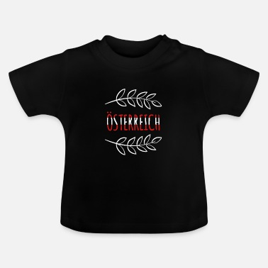 National Østrig National Colors National Gift - Baby T-shirt