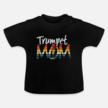 Auntie Trumpet - Funny Retro Marching Band Mom - Baby T-Shirt