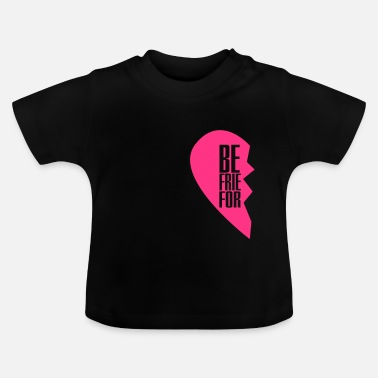Best Friends best friends forever left heart side - Baby T-shirt