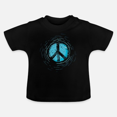 Global Peace Global Peace Peace Sign War Peace Sign - Baby T-Shirt