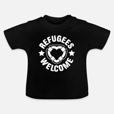 Illegal refugees welcome herz - Baby T-Shirt